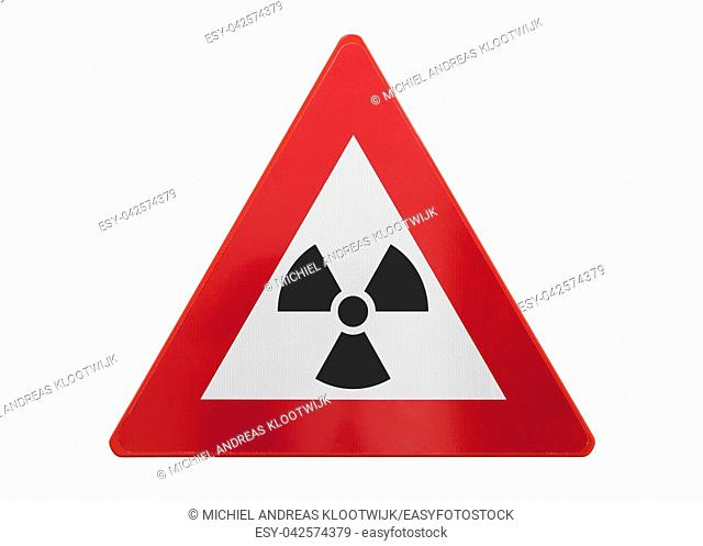 Traffic sign isolated - Radiation - Isolated on white