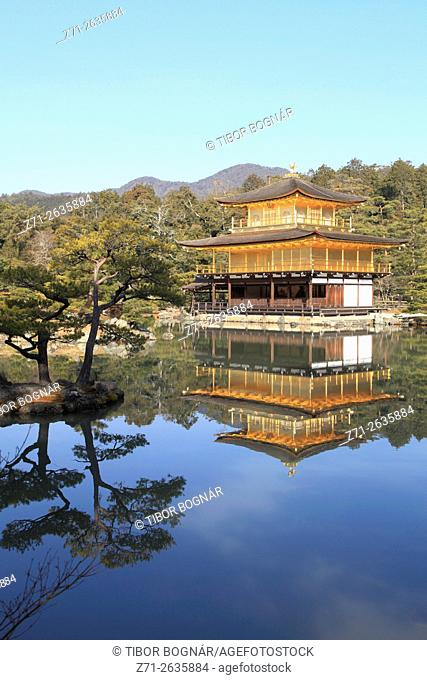 Japan, Kyoto, Kinkaku-ji Temple, Golden Pavilion,