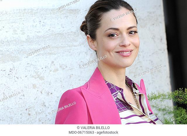 Italian actress Valeria Bilello during Un'Avventura photocall. Rome, February 13th, 2019