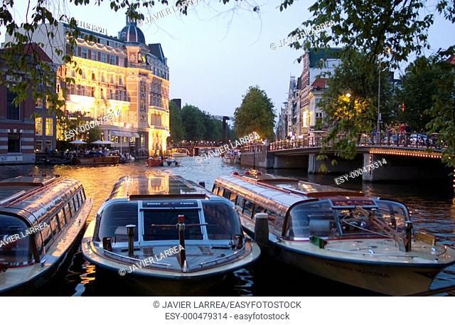 Binnen Amstel canal. Amsterdam. Netherlands