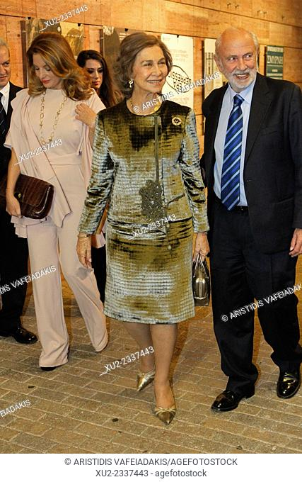 Queen Sofia of Spain arrive in Benaki museum. International Conference focuses on the life and ouevre of Domenikos Theotokopoulos, known universally as El Greco