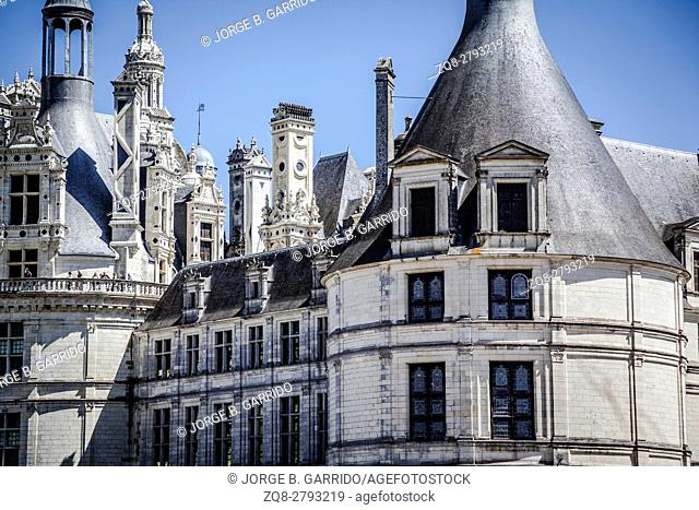 The royal Chateau de Chambord at Chambord, Loir-et-Cher, France