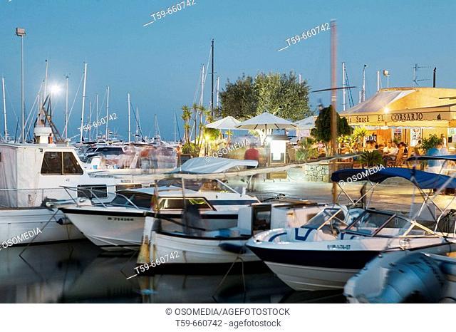 Santa Eulàlia harbour. Ibiza. Balearic Islands. Spain