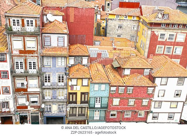 Typical buildings of Ribeira, Porto, Portugal