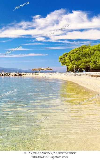 Croatia - Makarska Riviera, beach near Makarska Village, Dalmacia, Croatia