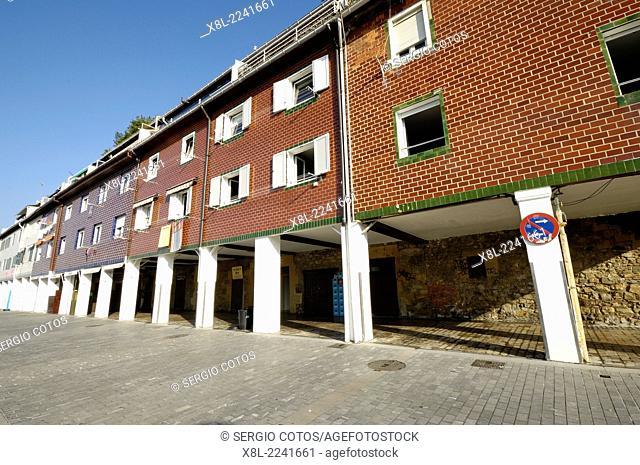 Houses. Fishing port in San Sebastian. Basque Country, Spain