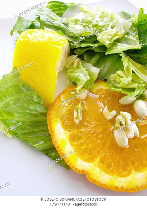 Aromatic salad with Orange blossom