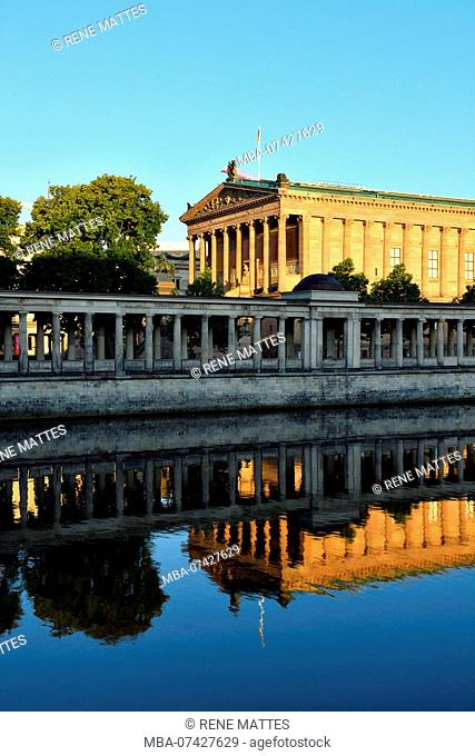 Germany, Berlin, Berlin-Mitte district, Museum Island, listed as World Heritage by UNESCO, the museum of the former National Gallery (Alte Nationalgalerie) and...