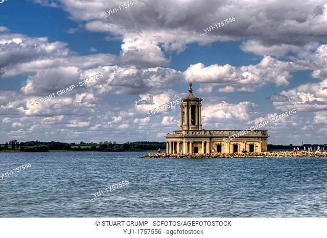 HDR of The Normanton Church Museum at Rutland Water, Nr Oakham Leicestershire, England, UK