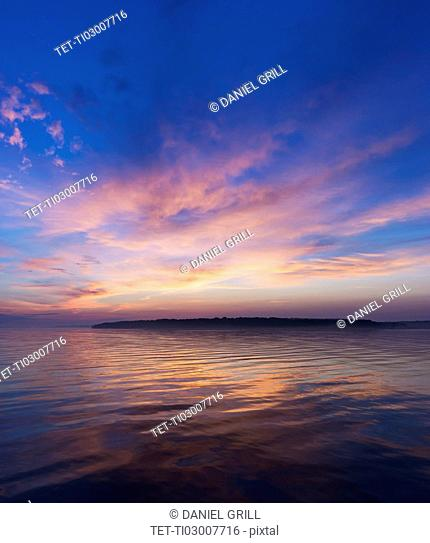 Colorful seascape at sunrise