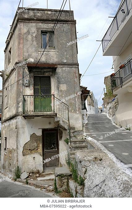 Europe, Greece, Corfu, old house
