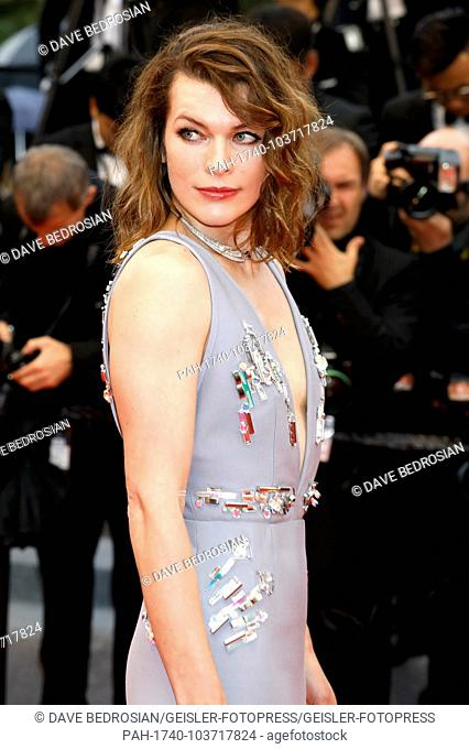 Mila Jovovich attending the 'Burning / Beoning' premiere during the 71st Cannes Film Festival at the Palais des Festivals on May 16, 2018 in Cannes