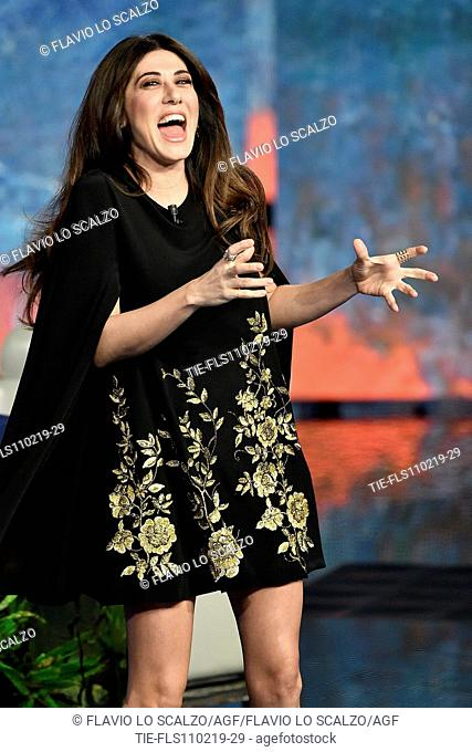 Virginia Raffaele during the tv show Che tempo che fa, Milan, ITALY-10-02-2019