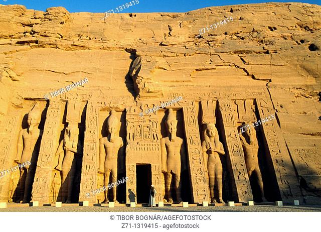 Egypt, Abu Simbel, Temple of Hathor