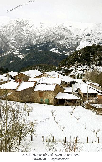 Village Torices, in Liébana, Cantabria, Spain
