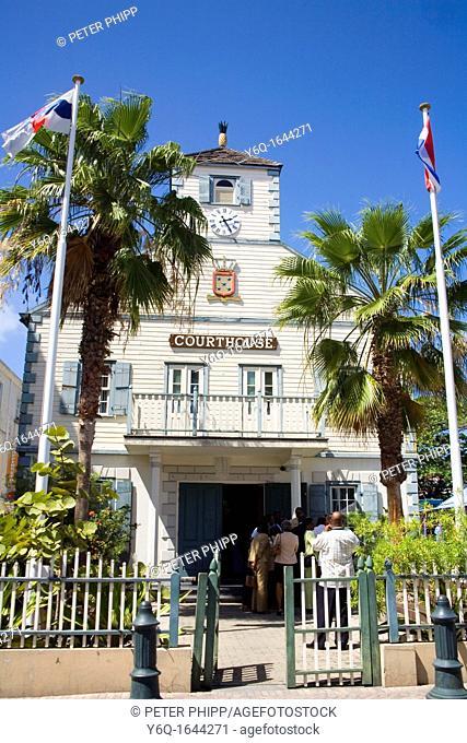 The Court House at Philipsburg in St Maarten  Caribbean