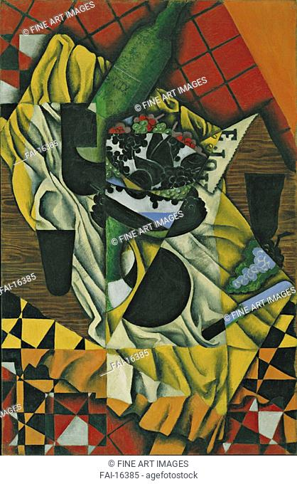 Grapes. Gris, Juan (1887-1927). Oil on canvas. Cubism. 1913. © Museum of Modern Art, New York. 92,1x60. Painting