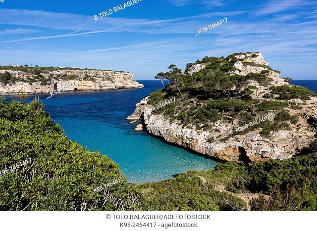 Caló des Moro, Santanyí, Majorca, Balearic Islands, Spain