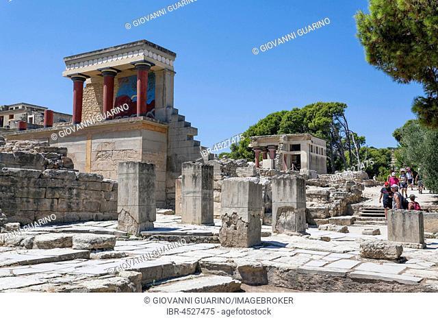 Palace of Knossos, ancient city of Knossos, Heraklion, Crete, Greece
