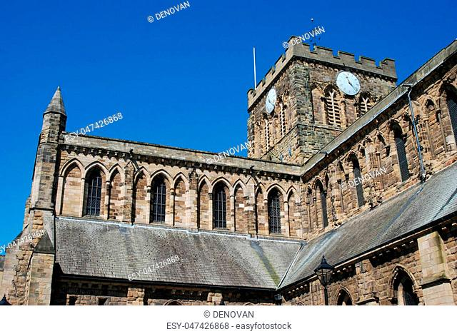 Hexham cathedral from main street