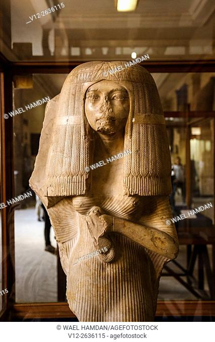 Statue of the wife of Nakhtmin. Egyptian Museum. Egypt