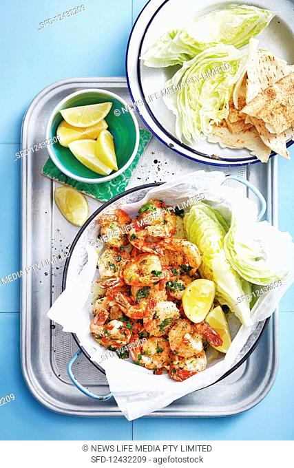 Garlic salt and pepper prawns