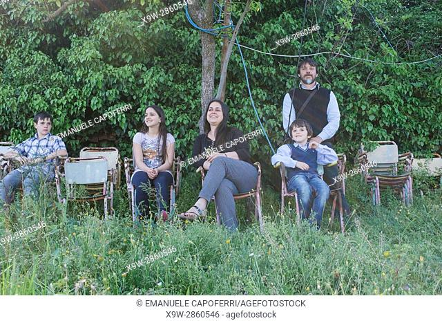 Portrait of an italian family