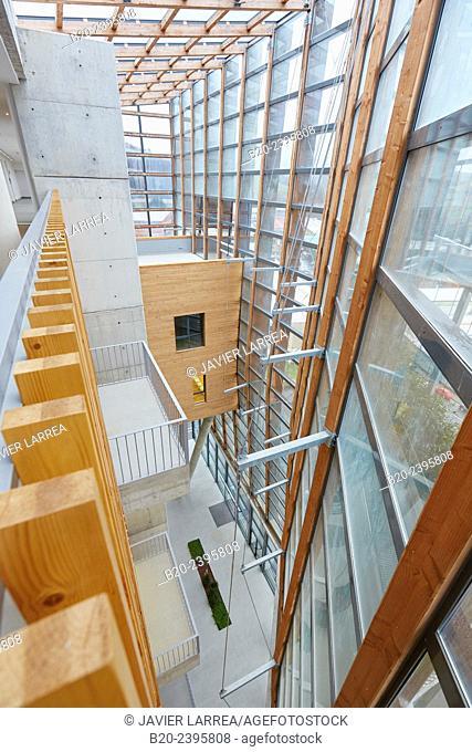 Building eco-intelligent architecture with zero emissions. Enertic Building. Martutene. Donostia San Sebastian. Gipuzkoa. Basque Country. Spain