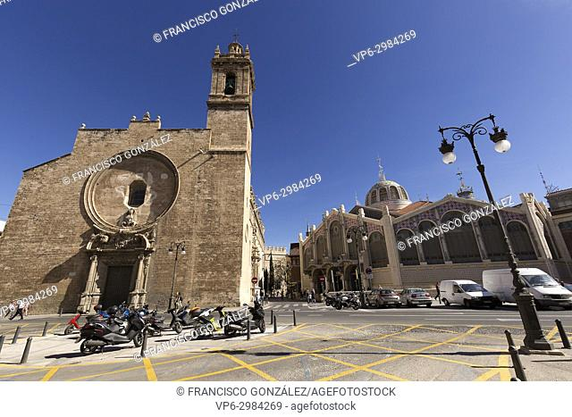 Royal Parish of Santos Juanes, also known as Church of San Juan del Mercado, is a church located in the city of Valencia, opposite the Silk Market