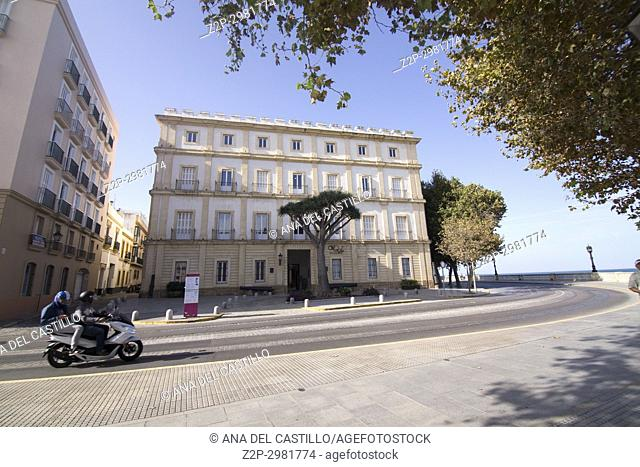 Cityscape Old town in Cadiz , Andalusia, Spain, Cultural center Reina Sofia