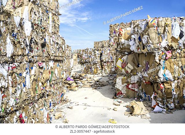 waste paper recycling plant. Valencia