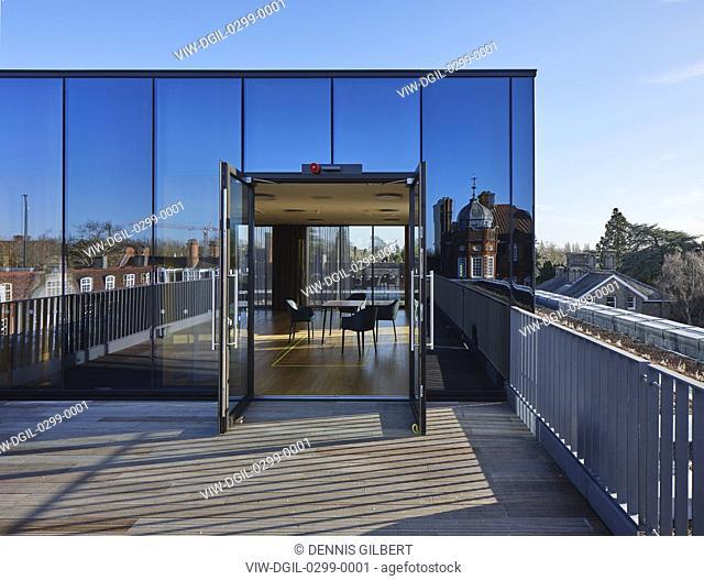 Rooftop meeting facility. Newnham College, Cambridge, Cambridge, United Kingdom. Architect: Walters and Cohen Ltd, 2018