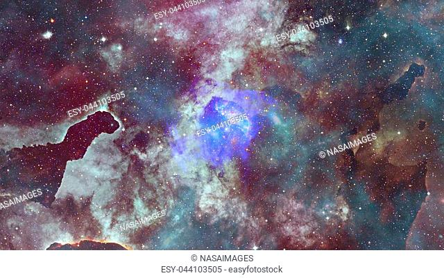 Nebula and galaxies in space. Elements of this image furnished by NASA