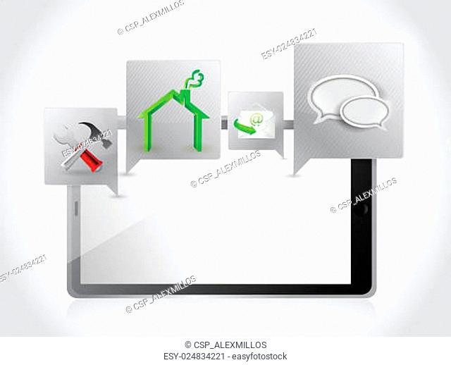 tablet applications and tools. illustration design