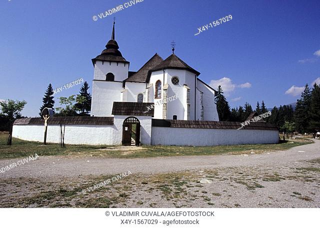 The open air museum of architecture of Liptov's region in Pribilina Muzeum Liptovskej dediny, Slovakia