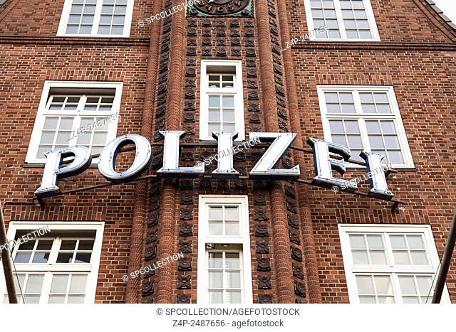 Police station in Hamburg Reeperbahn (Davidwache)