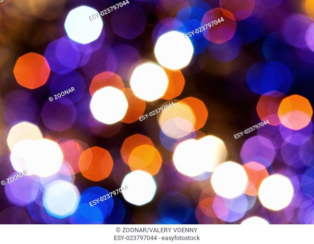 blue, red and violet shimmering Christmas lights