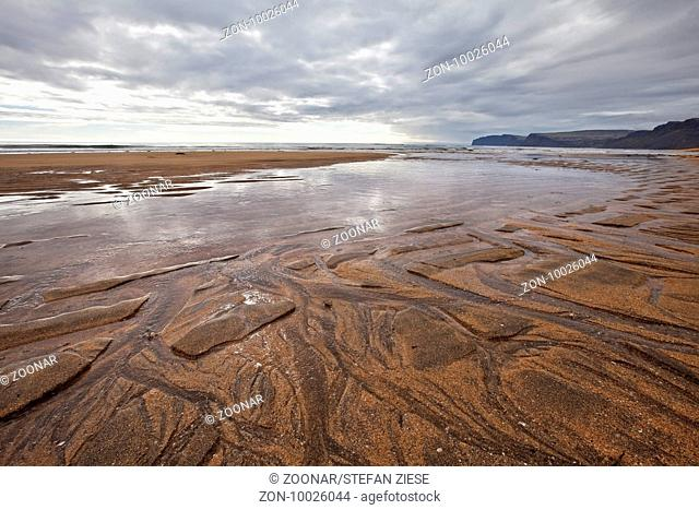 sandy beach of Raudasandur, Westfjorde, Iceland