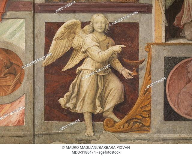 Angel with incense-boat (Angelo con navicella), by Bernardino Luini, 1525-1530, 16th Century, fresco