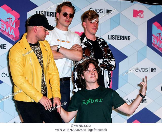 The 2016 MTV Europe Music Awards (EMAs) held at the Ahoy Rotterdam, Netherlands - Press Room Featuring: Lukas Graham, Lukas Forchhammer, Mark Falgren