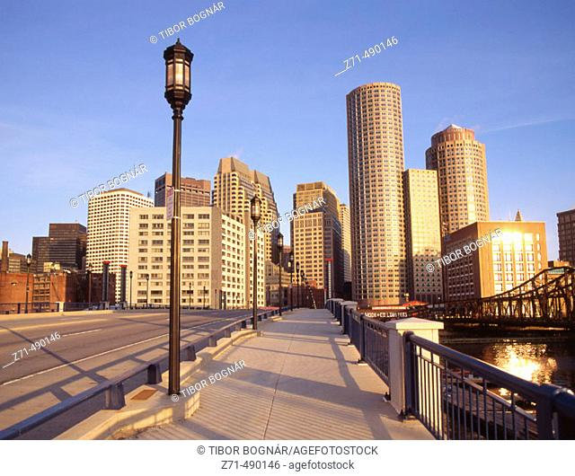 Financial District skyline, Boston. Massachusetts, USA
