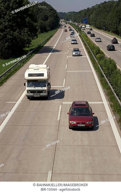 Highway with traffic in the Inn valley near Neubeuern Upper Bavaria