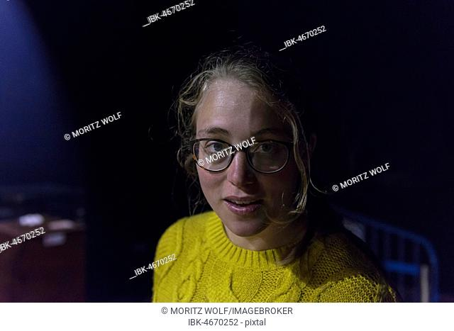 Young woman wearing glasses, portrait
