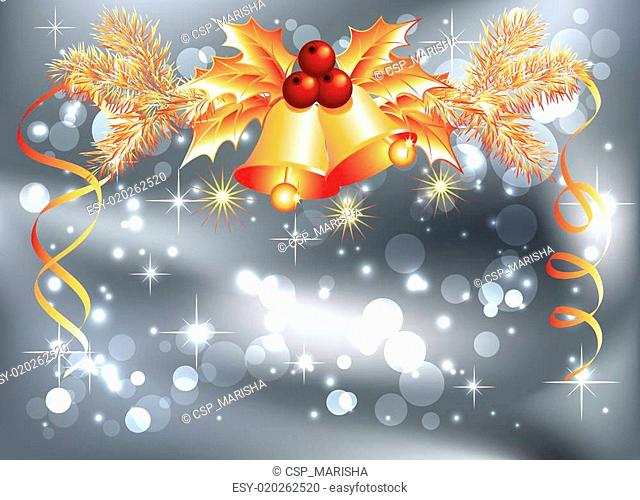 Christmas bells and bokeh