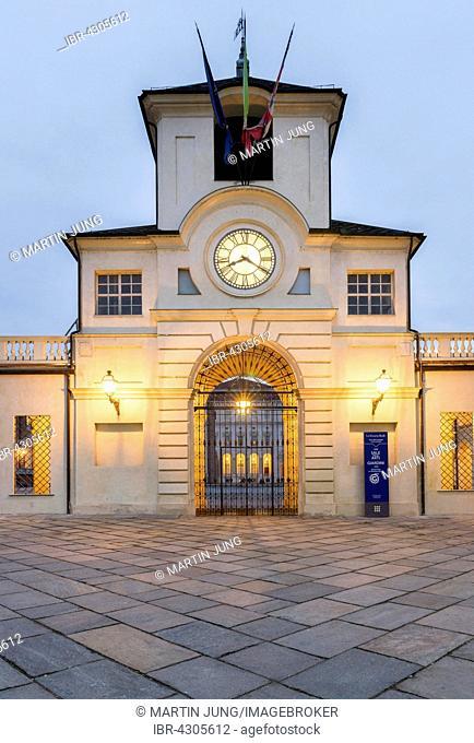 Clock tower, Palace of Venaria, Venaria Reale, Piedmont, Italy
