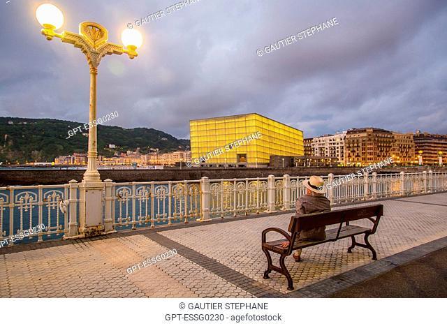 CONTEMPORARY ARCHITECTURE, THE KURSAAL CONVENTION CENTER, KURSALL CUBES, SAN SEBASTIAN, DONOSTIA, BASQUE COUNTRY, SPAIN