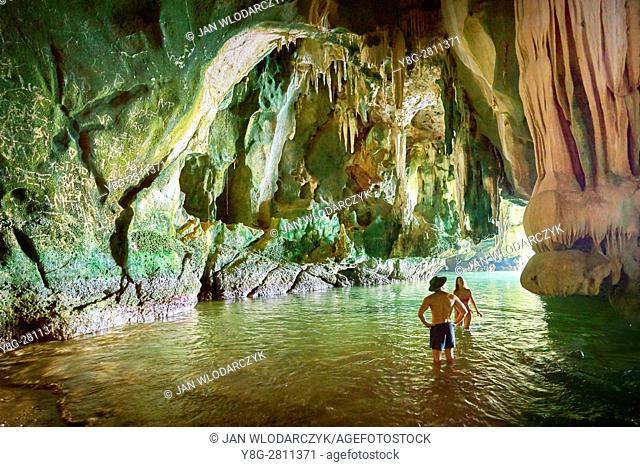 Exploring Ko Talabeng Cave, Krabi Province, Thailand