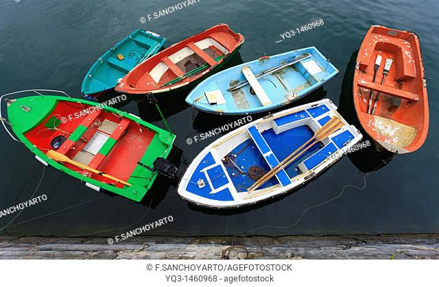 Boats in port, Castro Urdiales, Cantabria, Spain