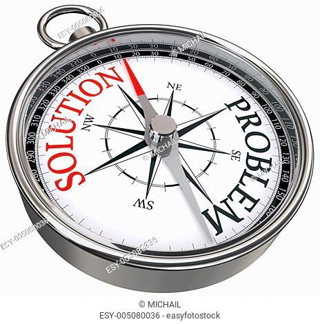solution problem concept compass