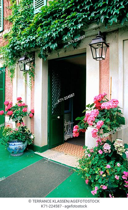 Entrance to Claude Monet's house. Giverny. France